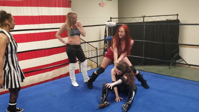 Jessie Belle vs Amber O'Neal vs Haley Shadows with Special Referee Desi Derata  Best Laid Plans Fall Apart!