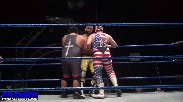 Semsei vs. American Beard vs. Eddie Cruz - Premier Pro Wrestling PPW #333