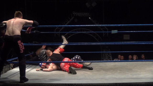 Dangerous Hustle vs. American Beard & Kirk Halifax - Premier Pro Wrestling PPW Dominance