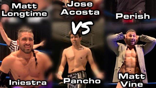 Matt Longtime, Jose Acosta & Perish vs. Matt Vine, Iniesta & Pancho  - Premier Pro Wrestling PPW #355