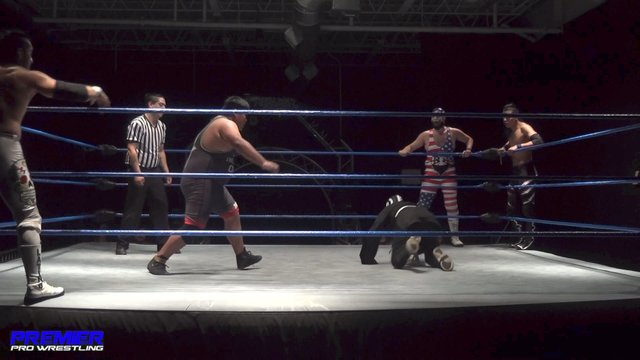 """El Mero Mero"" Iniestra, Zero-1 & Zero-2 vs. The American Beard, Ventura & Eddie Cruz - Premier Pro Wrestling PPW #308"