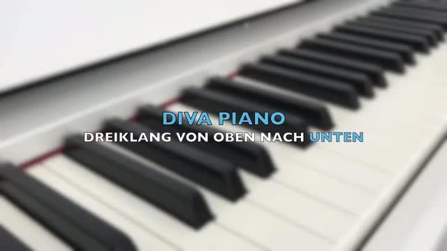 DIVA PIANO - DREIKLANG VON OBEN NACH UNTEN