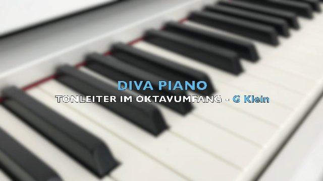 DIVA PIANO - TONLEITER IM OKTAVUMFANG - G Klein