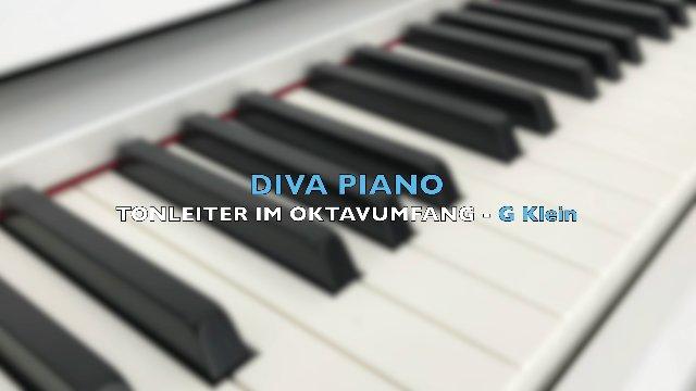 DIVA PIANO - TONLEITER IM QUINTUMFANG - G Klein
