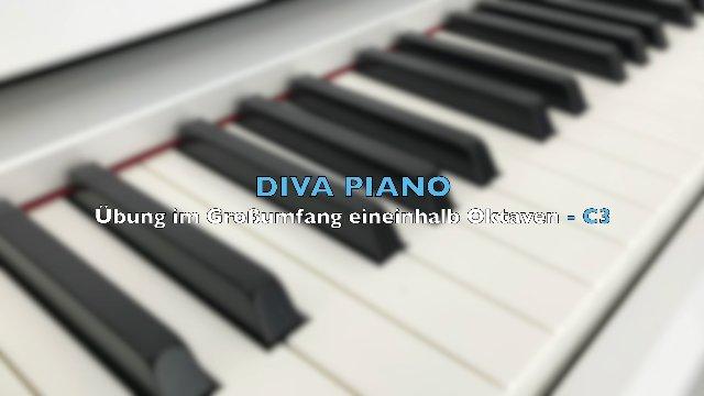 DIVA PIANO - Übung im Großumfang eineinhalb Oktaven - C3