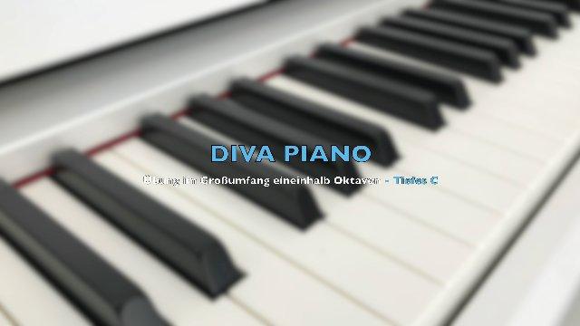 DIVA PIANO - Übung im Großumfang eineinhalb Oktaven - Tiefes C