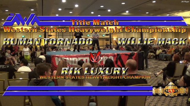 Casino Royale 2017 at CAC: Willie Mack vs. Human Tornado vs. Rik Luxury - Western States Heavyweight Championship