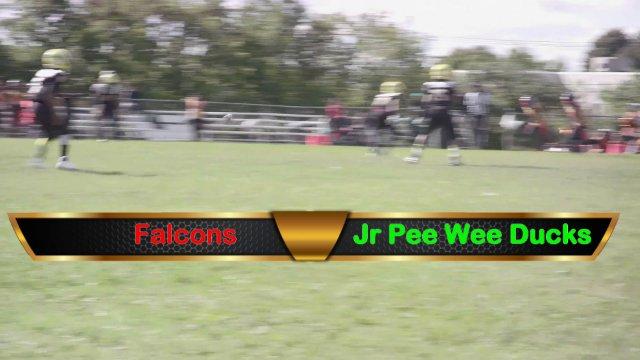 Jr Pee Wee Ducks VS Falcons Sat Sept 29th