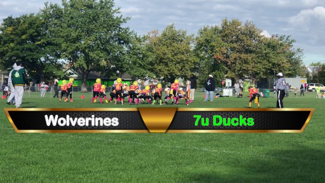 7u Ducks VS Wolverines Sat Oct 13th