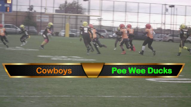 Pee Wee Ducks VS Cowboys Playoff Game Sun Oct 28th