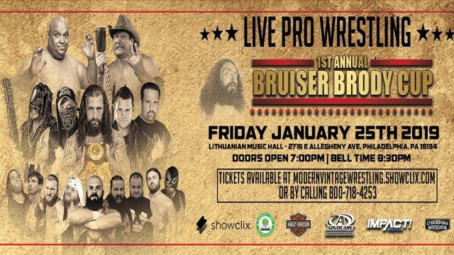 1st Annual Bruiser Brody Cup 1/25/19 Philadelphia, PA