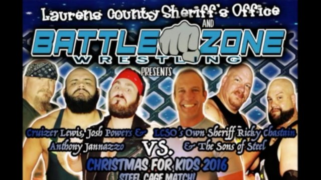 The Sons of Steel and Sheriff Ricky Chastain vs. Anthony Jannazzo, Josh Powers, and Cruizer Lewis