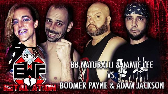 BB Naturalli and Jamie Lee vs. Boomer Payne and Adam Jaxson