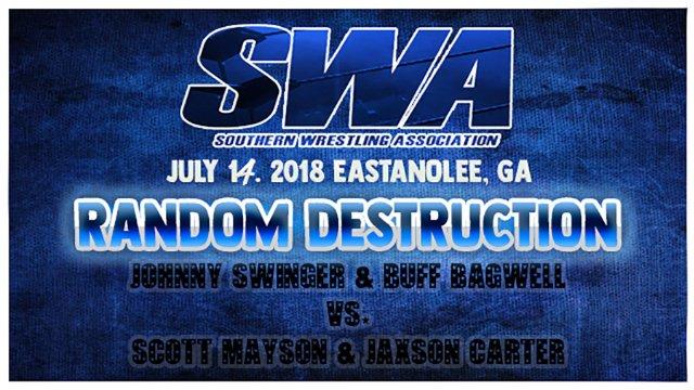 Buff Bagwell and Johnny Swinger vs. Scott Mayson and Jaxson Carter with Jonathan Feltner