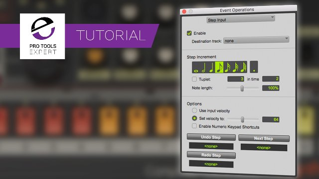 Using Step Input In Pro Tools