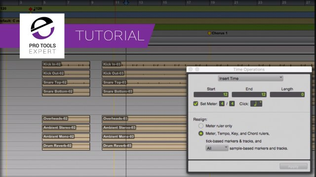 Inserting Tempo Changes Or Moving The Song Start In Pro Tools? - Why You Should Know How To Use The Time Operations Window