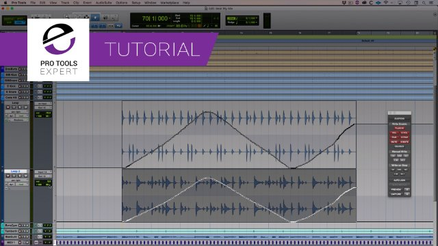Accessing, cutting and deleting automation In Pro Tools