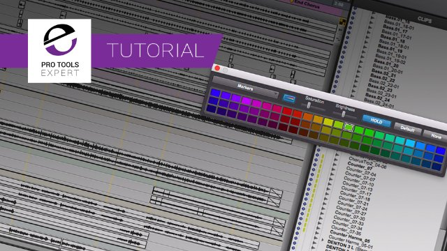 Using Colour In Pro Tools - Beyond track colour, Clips List, Markers, Groups and more