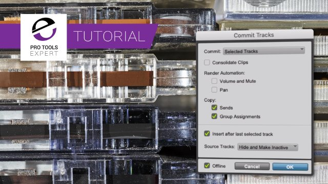 Using Commit To Archive Pro Tools Sessions
