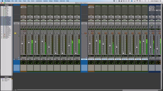 Using Basic Folder Tracks In Pro Tools
