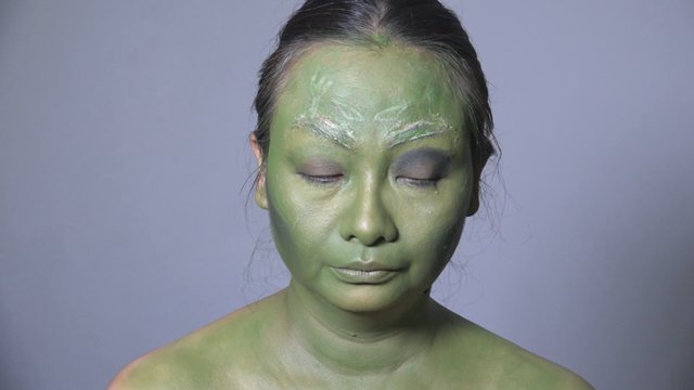 Makeup Film Character - Super Hero (Gamora)