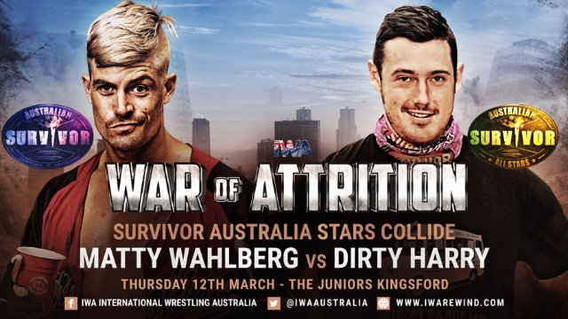 IWA - Matty Wahlberg vs Dirty Harry - War of Attrition (12/03/20)