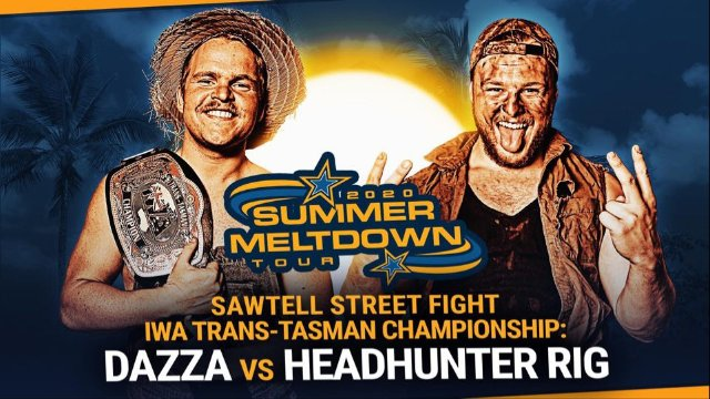 FREE MATCH: IWA Trans-Tasman Championship Sawtell Street Fight - Dazza (c) vs HeadHunter Rig (11/01/20)