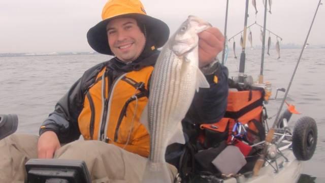Deep Jigging Winter Striped Bass Part 1