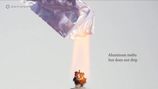 Aluminum 01 - Burning Aluminum Foil