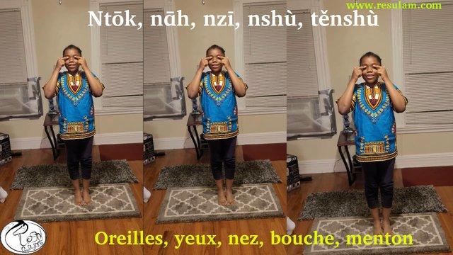 Tête, épaule, Genou, Orteil en langue nufi (Chanson)