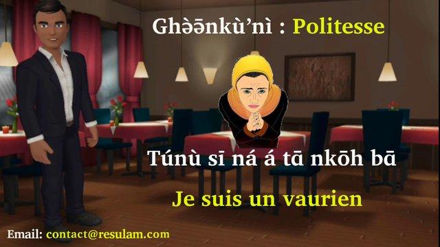 Formules de politesse en langue fe'efe'e