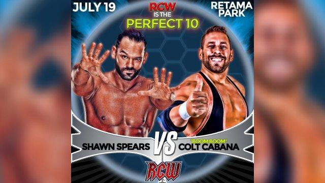 "Shawn Spears w/ Tully Blanchard vs. ""Boom Boom"" Colt Cabana w/ ""Boom Boom"" Brandon Oliver"