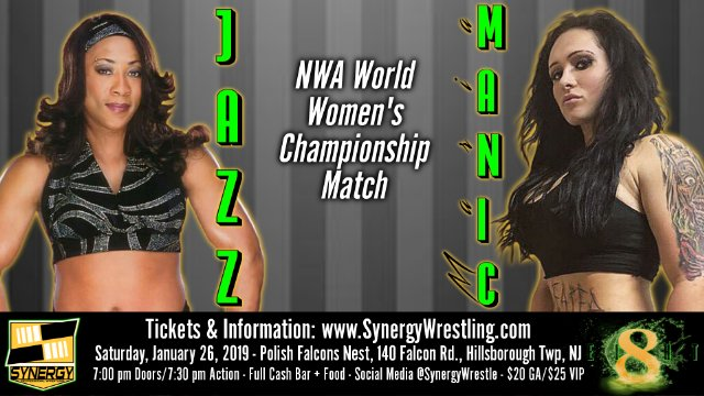 Jazz vs Maria Manic, NWA World Women's Championship | Synergy Pro Wrestling