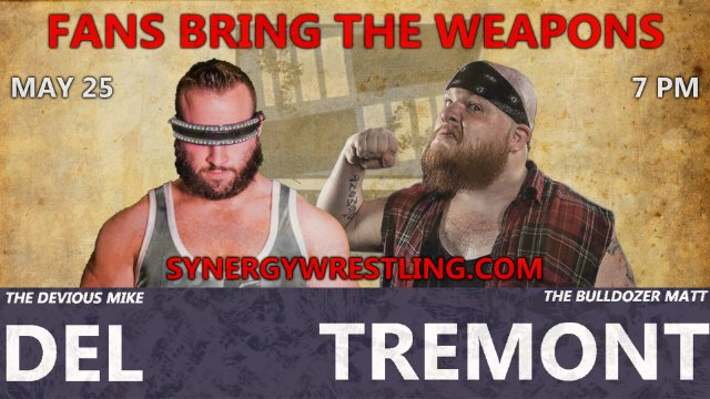 Matt Tremont vs Mike Del, Fans Bring the Weapons | Synergy Pro Wrestling