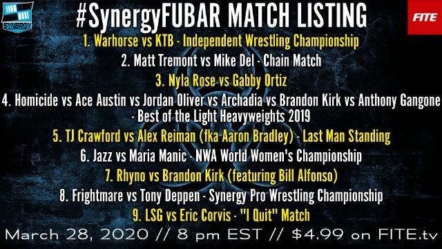 FUBAR | Synergy Pro Wrestling Coronavirus Compilation