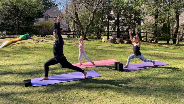 Kids Backyard Yoga