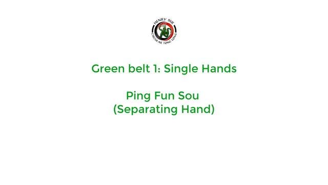 Green Belt 1 - Single Hands Part 1