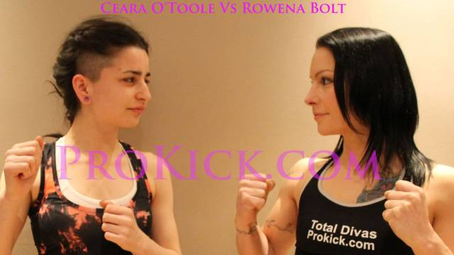 Rowena Bolt Vs Ceara O'Toole - Girls in Kickboxing