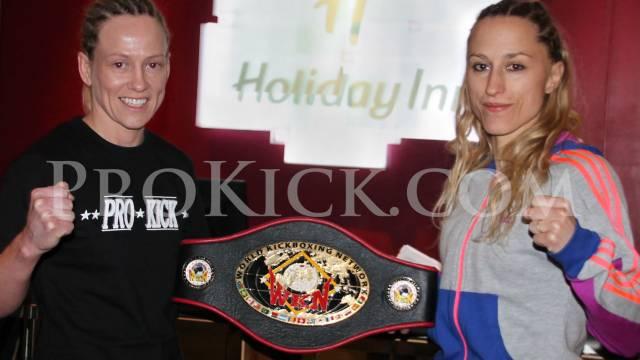 Cathy McAleer and Stephanie Aubertin in Championship kickboxing