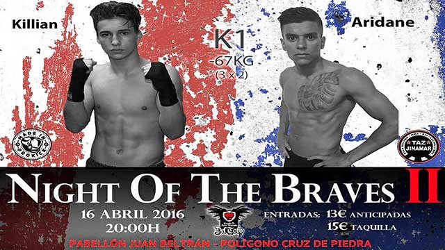 Killian Emery faced Aridane Santiago in kickboxing K1 Style