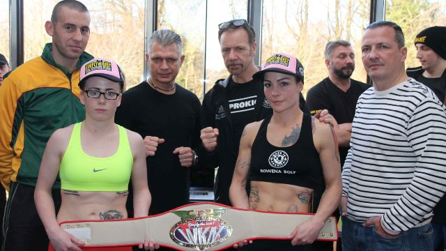 Rowena Bolt Vs Kerry Doyle kickboxing in Belfast