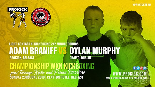 Adam Braniff faced Dylan Murphy in K1 Light-Contact