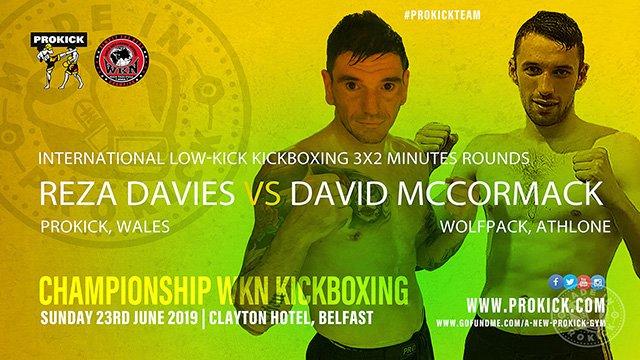Reza Davies Vs Davis McCormack in Kickboxing