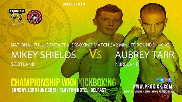 Mikey Shields Vs Aubrey Tarr in Kickboxing