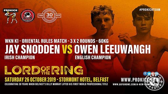 Jay Snodden Vs Owen Leeuwangh in Belfast