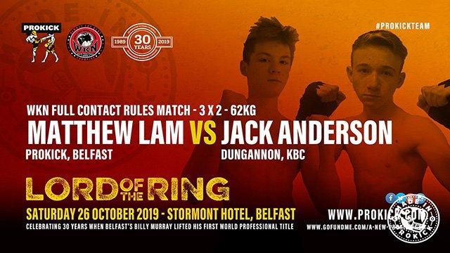Matthew Lam Vs Jack Anderson kickboxing