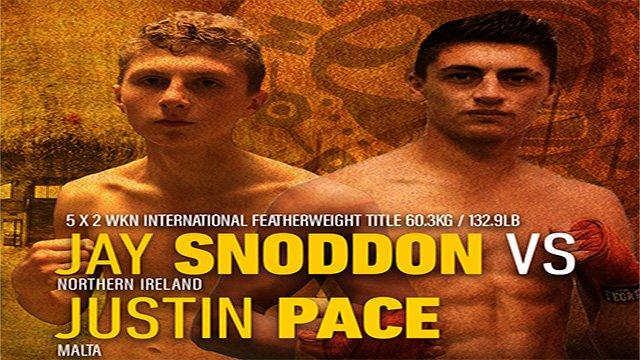 Snoddon Vs Pace at Fight Club Belfast