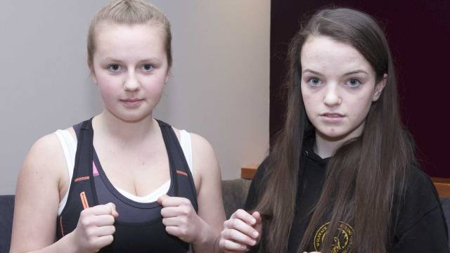 Teenage Girls in Kickboxing Action Saskia Conolly Vs Danielle Peppard