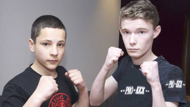 Teenage Kickboxing with George Eyre Vs Rytis Daniolous