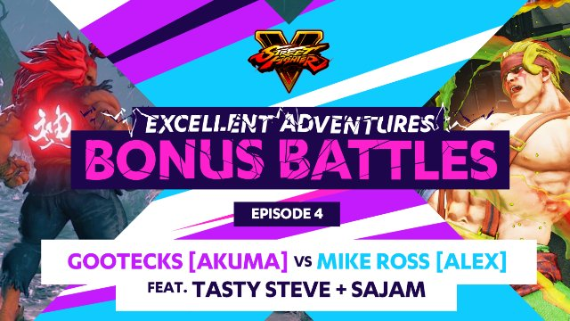 Bonus Battle: Gootecks (Akuma) vs. Mike Ross (Alex) ft. Tasty Steve & Sajam